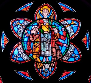 Detail from the Resurrection Window at All Souls, by Harry Wright Goodhue, 1929.