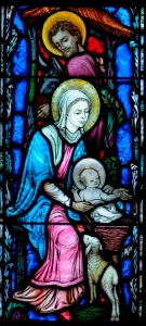Detail from the Nativity Window, All Souls, by Willet Studios, 1941.