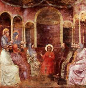 """Jesus among the doctors of the church,"" Scrovegni Chapel, Padua, Giotto."