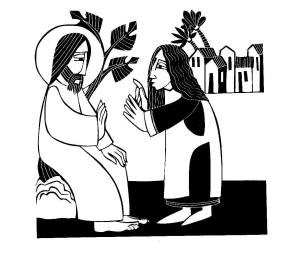 Jesus and the Canaanite Woman by Br. Martin Erspamer, OSB