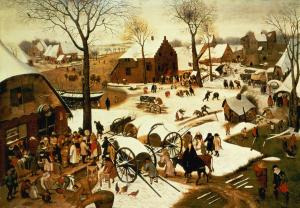 """Census at Bethlehem"" by Pieter Bruegel the Elder, 1566."