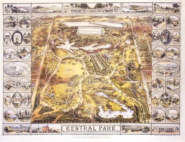 Greensward design of Central Park by Federick Law Olmstead and Calvert Vaux