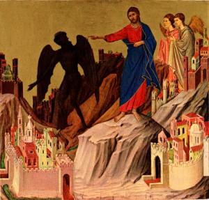 jesus and the devil icon