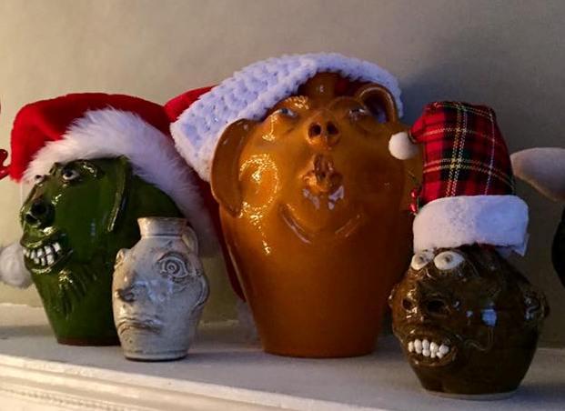 Festive face jugs
