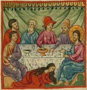 Mary_Anoints_Jesus,_Ilyas_Basim_Khuri_Bazzi_Rahib