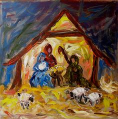abstract nativity